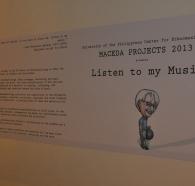 exhibit title panel w caricature by rg salazar